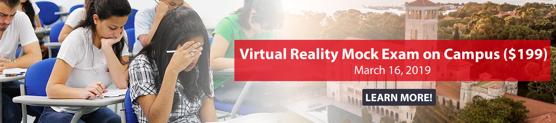 Virtual Reality Mock Exam on Campus